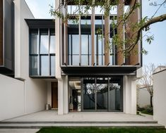 Jinghope Villas in Suzhou, China - designed by Singapore architecture firm, SCDA, photographed by Seth Powers. Singapore Architecture, Modern Architecture Design, Facade Architecture, Residential Architecture, Modern House Design, Chinese Architecture, Design Exterior, Facade Design, Villa Design