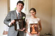 showing pics of parents' weddings