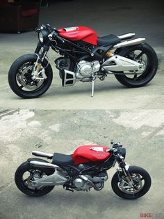 Cafe racer ducati rouge