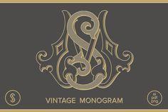 MS Monogram SM Monogram by Shuler Studio on @creativemarket