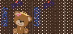 Ursinha Princesa Rosa e marrom – Kit digital gratuito – Inspire sua Festa ®