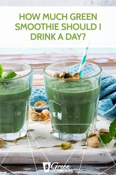 As so many people are raving about the benefits of green smoothies, you might be wondering how much green smoothie should I drink a day? How much is too much? Green Smoothie Cleanse, Green Detox Smoothie, Green Smoothies, Smoothie Diet, Best Vegan Protein, Protein Rich Foods, Raw Food Diet, Vegan Food, Smoothie Recipe Book