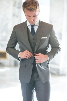Walk down the aisle in style in this Dolce Three Piece Suit ...