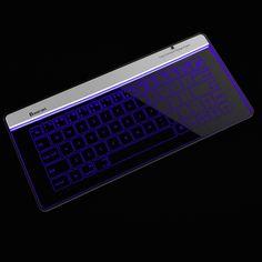 Bluetooth Glass Keyboard by Bastron -  . http://mtr.li/1S7pGSA