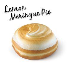 Krispy Kreme // Lemon Meringue Pie - Filled with zesty lemon & smooth kreme and topped with lightly toasted meringue.