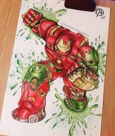 Hulkbuster/Veronica fanart by @NubiaEmDetalhes