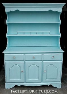 Maple Hutch in Robin's Egg Blue. From Facelift Furniture's Hutches, Cabinets & Buffets collection. Robins Egg Blue, Furniture Diy, Blue Furniture, Diy Furniture, Refinishing Furniture, Furniture, Gothic Furniture, Bedroom Furniture, Pine Bedroom Furniture