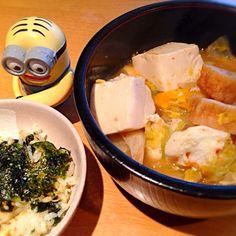 焼き魚が余っても、これでイケる! - 12件のもぐもぐ - 鮭フレークの混ぜご飯と昨日の鍋でリメイクラーメン( ̄Д ̄)ノ by mayumi3
