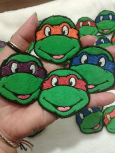 Teenage Mutant Ninja Turtles Sew On Patches by primadiana on Etsy, $12.00