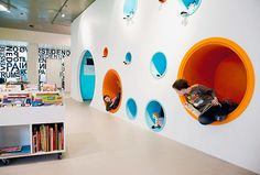 HJØRRING CENTRAL LIBRARY by Rosan Bosch. Walls for hiding/reading in.