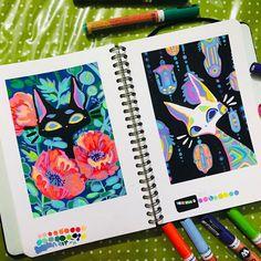 Marker Kunst, Marker Art, Pen Art, Kunstjournal Inspiration, Sketchbook Inspiration, Sketchbook Ideas, Cartoon Kunst, Cartoon Art, Art Drawings Sketches