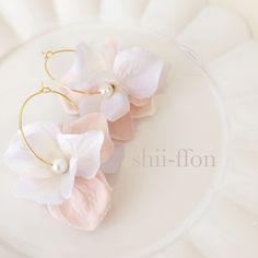 smoky pink flowerフープピアス/イヤリング