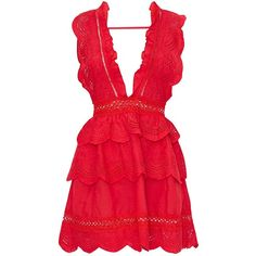 Red Crochet Lace Plunge Swing Dress ($59) ❤ liked on Polyvore featuring dresses, dusty pink dress, crochet lace dress, trapeze dress, tent dresses and red trapeze dress
