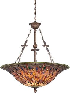 Details About Tiffany Style Light Fixture Dining Lamp Stained Glass Ceiling Victorian Mission