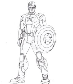 Captain America Coloring Pages, Avengers Coloring Pages, Superhero Coloring Pages, Lego Coloring Pages, Marvel Coloring, Printable Coloring Pages, Coloring Books, Colouring, Captain America Vs Superman