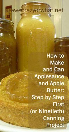 Step by step directions for making and canning applesauce and apple butter Canning Tips, Canning Recipes, Canned Applesauce, How To Can Applesauce, Apple Butter Canning, Canning Food Preservation, Preserving Food, Sauces, Marmalade