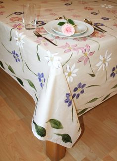 African Inspired Hand Painted Tablecloths These Designs Originated From The  Beautiful Surroundings Of The Cape Mountains