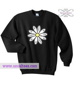 He Loves Me Daisy Flower Sweatshirt