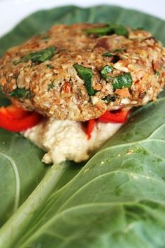 Raw Sweet Sundried Tomato Almond Burger + Cashew Cheese