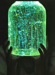 Glow in dark jar - can use glow sticks, glow paint, or UV paint, or even most laundry detergents  - splatter & splash it around the jar and place it somewhere for the party - for extra glow and pop, have a UV black light nearby