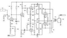 100w valve amplifier scheme