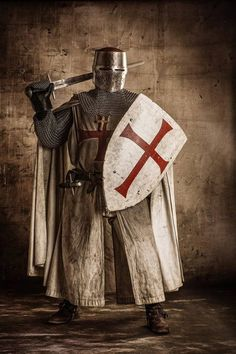 Medieval clothing. Knights Templar