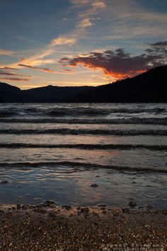 """""""Donner Lake Sunset 14"""" - Photograph of a sunset at Donner Lake in Truckee, California."""
