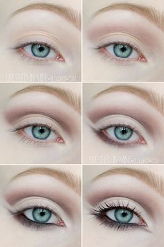 Dressed in Mint: make up. - Cut Crease / step by step