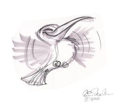 Hummingbird Drawings | This is dedicated to the little Hummingbird that I saw plucked from ...