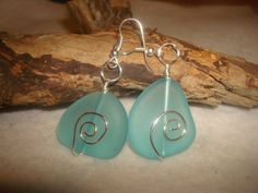 Turquoise Blue Sea Glass Earrings Turquoise by MicheladasMusings, $12.00