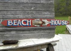 Beach house Sign vintage Water ski