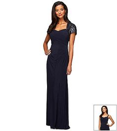 Lace chiffon chiffon gown and chiffon on pinterest for Elder beerman wedding dresses