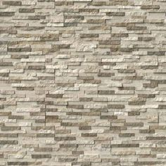 Bring a seamless appearance to your dwelling by installing MS International Colorado Canyon Pencil Ledger Panel Marble Wall Tile. Slate Wall Tiles, Marble Wall, Stone Siding, Stone Cladding, Brick Face, Waterfall House, Faux Stone Panels, Stone Veneer, Fireplace Surrounds