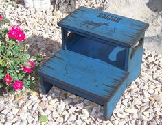 Personalized Two Step Stool, Kid's Stool, Bathroom Stool, Wood Stool For Kid's