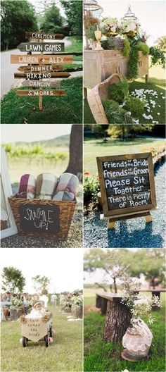 Rustic Backyard Outdoor Wedding Decor Ideas / http://www.deerpearlflowers.com/ideas-for-rustic-outdoor-wedding/