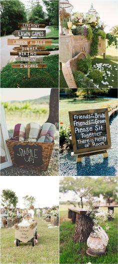 Rustic Backyard Outdoor Wedding Decor Ideas / http://www.deerpearlflowers.com/ideas-for-rustic-outdoor-wedding/