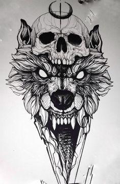 Tatoos - Tätowierungen - old school frases hombres hombres brazo ideas impresionantes japoneses pequeños tattoo Wolf Tattoos, Skull Tattoos, Animal Tattoos, Body Art Tattoos, Tatoos, Tattoo Design Drawings, Skull Tattoo Design, Tattoo Sketches, Art Sketches