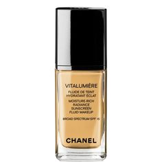 Chanel Vitalumiere - My absolute favorite foundation. Works wonders on super dry and sensitive skin and doesn't leave you with that awful mask feeling like some other foundations.