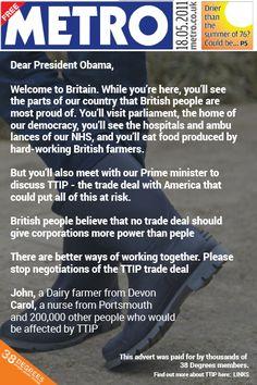 TTIP Please sign petition