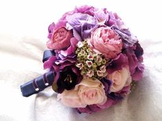 Purple and Pink Wedding Bouquet  Pink and by RedPurpleWedding, $98.95