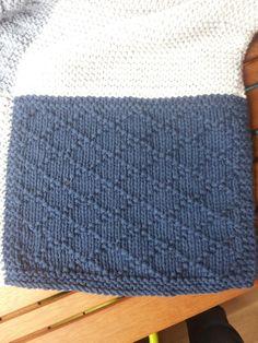 Comme promis, voici un billet décrivant plus ou moins en détail chaque carré réalisé sur la couverture! Pour un tuto très détaillé d'un car... Crochet Motif, Knit Crochet, Knitted Baby Blankets, Baby Knitting, Knitting Patterns, Diy, Crafts, Points, Blog