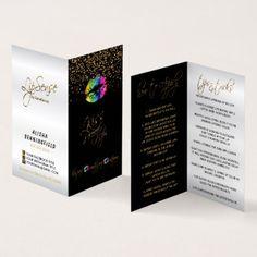 Rainbow Lips & Gold Confetti Instructions Business Card - metallic style stylish great personalize