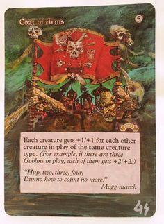 #Coat of Arms MTG Magic Altered Art Hand Painted Custom Pimp Hot Rare OOAK OOP #WizardsoftheCoast