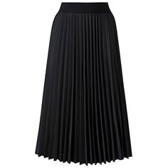 Wet Look Sunray Pleat Midi Skirt (13.720 HUF) ❤ liked on Polyvore featuring skirts, knee length pleated skirt, wet look skirt, elastic waist skirt, calf length skirts and shiny skirt