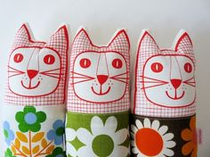 fabric cats by jane foster