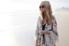 beach days: (jumpsuit- c/o Cynthia Vincent, kimono-Zara, shoes- RED Valentino, bracelets-c/o 7fam, sunnies Venice street vendor)