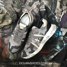URBAN CAMOUFLAGE Design: Premiata Sneakers Available in Dolita stores & online at www.dolitashoes.com Shoes | urban | trend | men | style | sneakerhead | camouflage Urban Trends, Asics, Designer Shoes, Camouflage, Footwear, Mens Fashion, Sneakers, Life, Instagram
