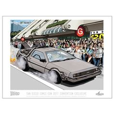 Factory Entertainment - Back To The Future - 2017 San Diego Comic-Con Convention Exclusive Print - $25.00