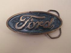 Vintage Ford Belt Buckle by ByChanceVintage on Etsy, $15.00