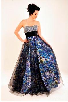 Alquiler de vestido de fiesta estampado de Dressmeup